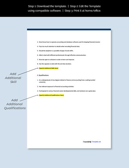 Accountant Trainee Job Description Template