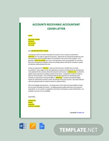 Free Accounts Receivable Accountant Cover Letter Template