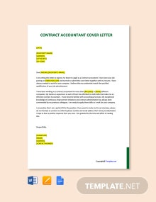 Free Contract Accountant Cover Letter Template