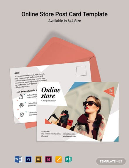 Online Store Postcard Template