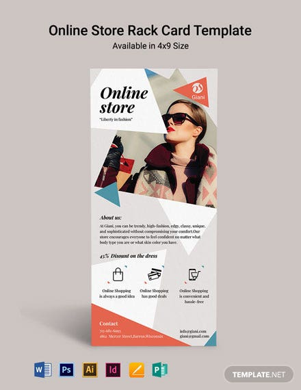 Online Store Rack Card Template