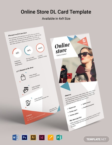 Online Store DL Card Template