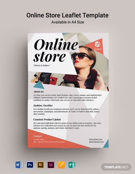 Online Store Leaflet Template