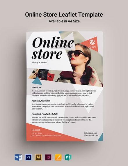 Online Store Leaflet Template