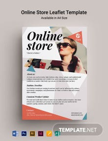 Online Store Pamphlet Template