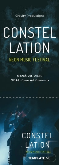 Music Ticket Template