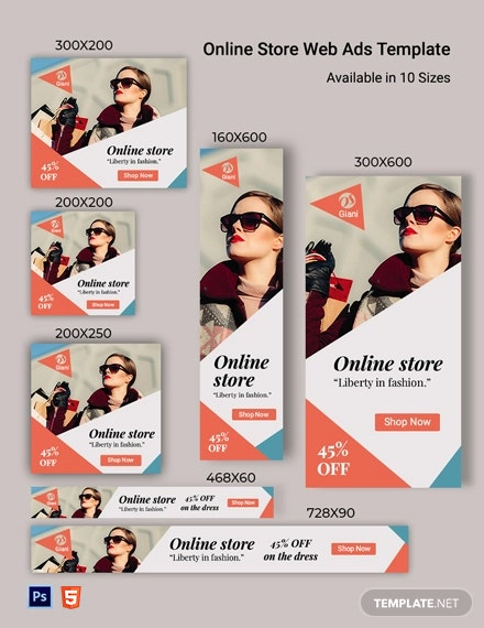Online Store Web Ads Template