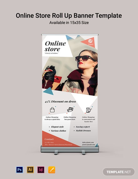 Online Store Roll Up Banner Template