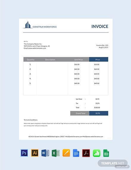 Architecture Invoice Template