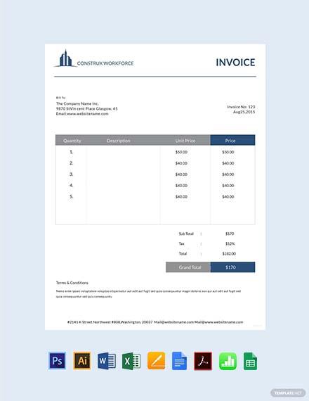 Free Architecture Invoice Template