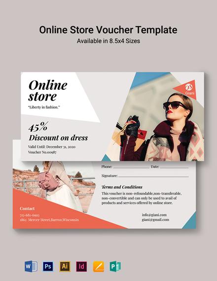 Online Store Voucher Template