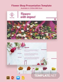 Flower Shop Presentation Template