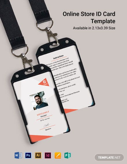 Online Store ID Card Template