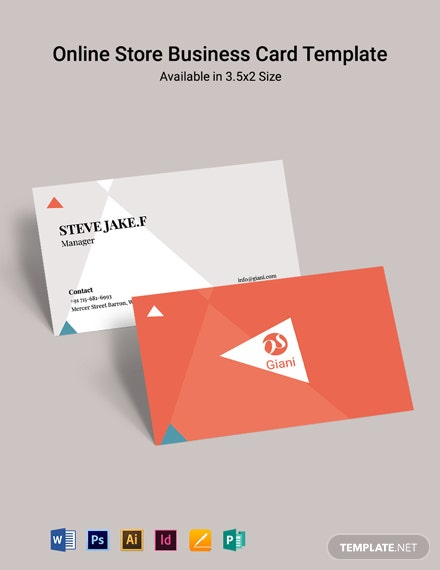 Online Store Business Card Template