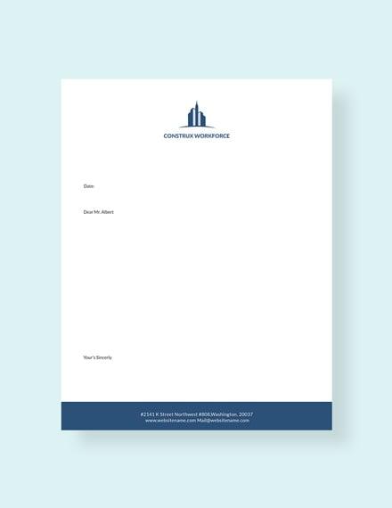 Free Architecture letterhead Template