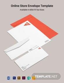 Online Store Envelope Template