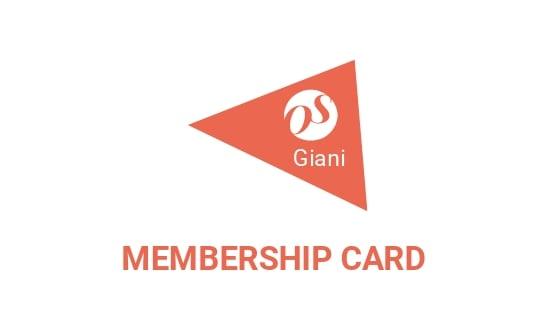 Online Store Membership Card Template