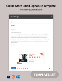 Online Store Email Signature Template