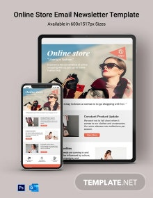 Online Store Email Newsletter Template