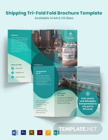 Shipping Tri-Fold Brochure Template