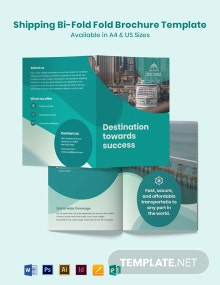 Shipping Bi-Fold Brochure Template