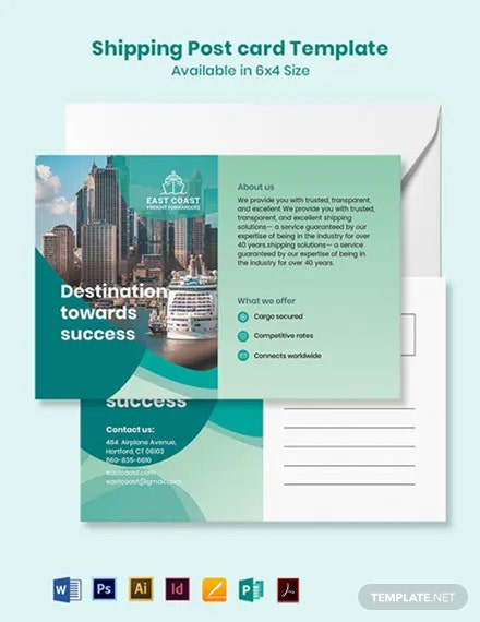 Shipping Postcard Template