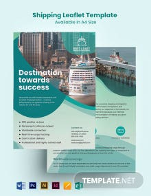 Shipping Leaflet Template