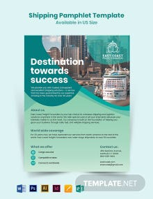Shipping Pamphlet Template