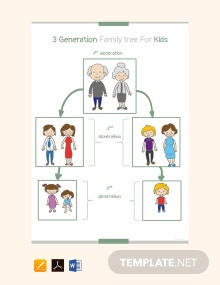 Free 3 Generation Kid Family Tree Template