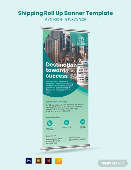 Shipping Roll Up Banner Template