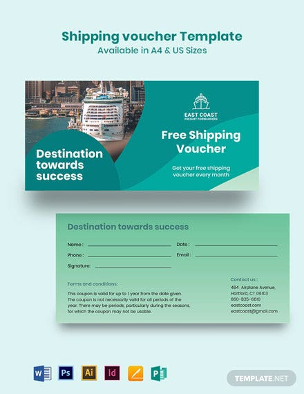 Shipping Voucher Template