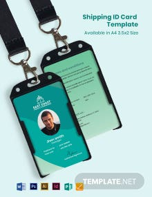 Shipping ID Card Template