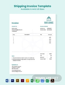 Shipping Invoice Template