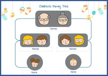 Children's Family Tree Template
