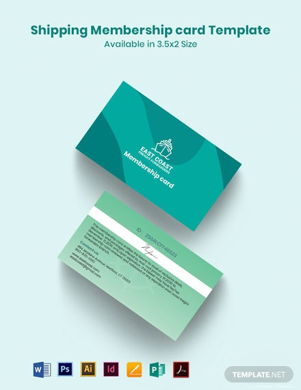 Shipping Membership Card Template