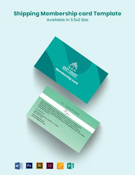 Shipping Membership Card Template