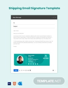 Shipping Email Signature Template