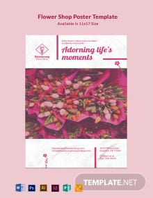 Flower Shop Poster Template