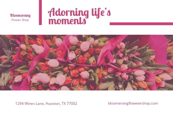 Flower Shop Post Card Template