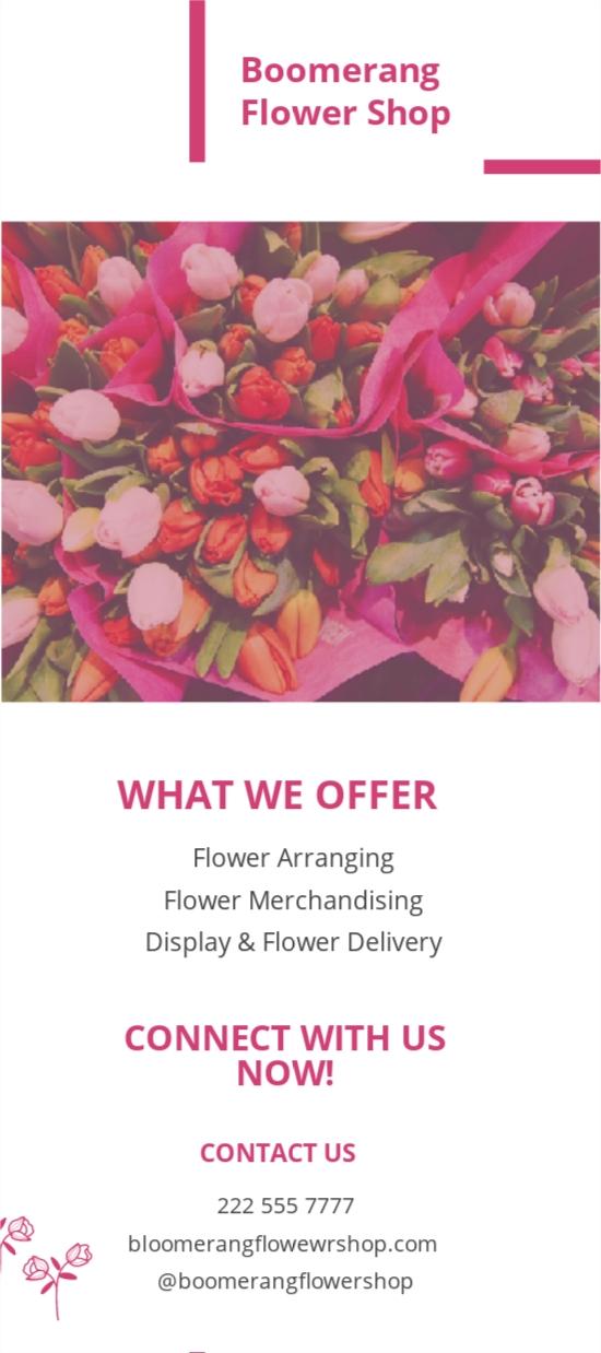 Flower Shop Rack Card Template