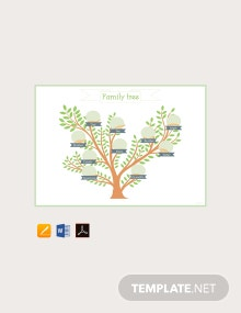 Example of Family Tree Template