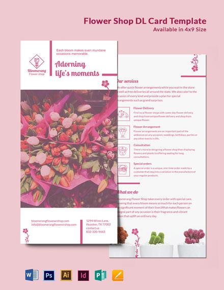 Flower Shop DL Card Template