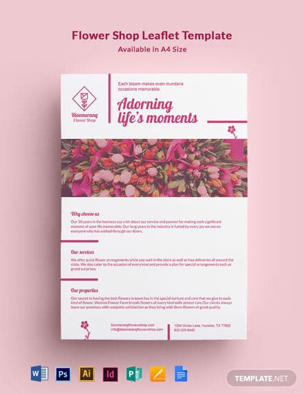 Flower Shop Leaflet Template