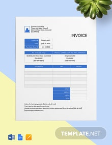 Free Professional Contractor Invoice Template