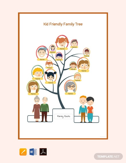 Free Kid Friendly Family Tree Template