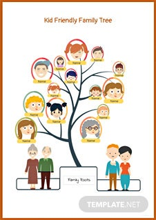 Kid Friendly Family Tree Template