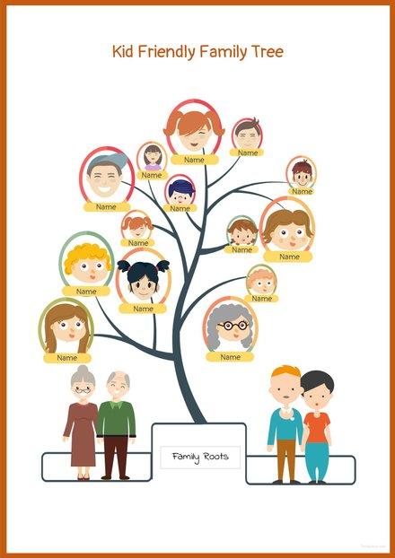 Kid Friendly Family Tree Template