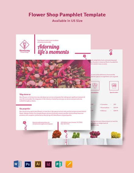 Flower Shop Pamphlet Template