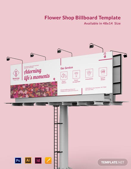 Flower Shop Bill Board Template