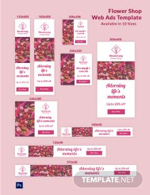 Flower Shop Web Ads Template